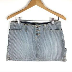 Abercrombie & Fitch Striped Denim Skirt Sz 4